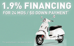 Special financing rates and $0 down payment
